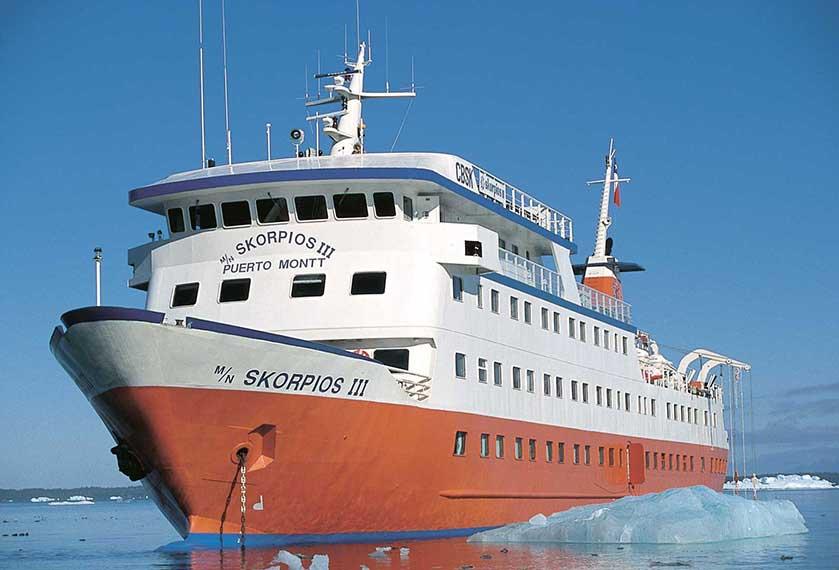 Skorpios Cruises - Skorpios III<br />Southern Ice Fields<br />Kaweskar Route
