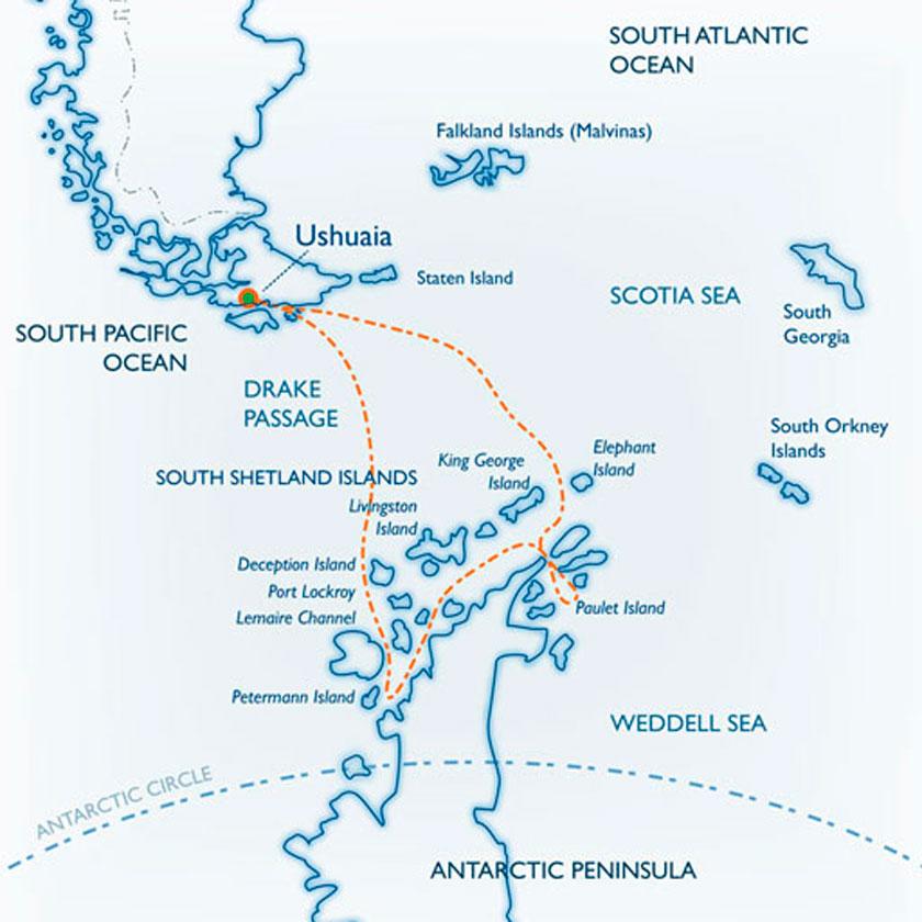 Clássico Antártida e Ilhas Shetland do Sul no M/V Ushuaia