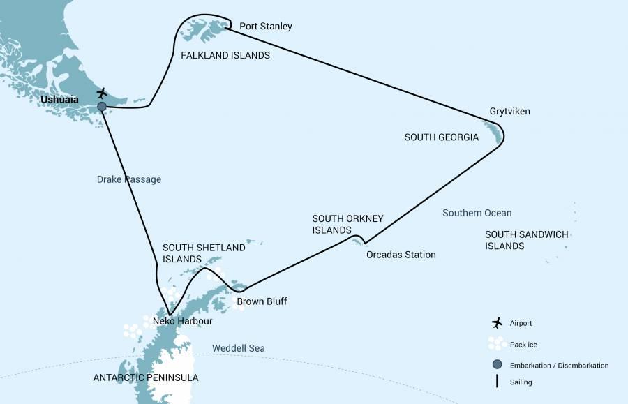 Antarctique et îles subantarctiques dans le M/V Plancius - M/V Janssonius