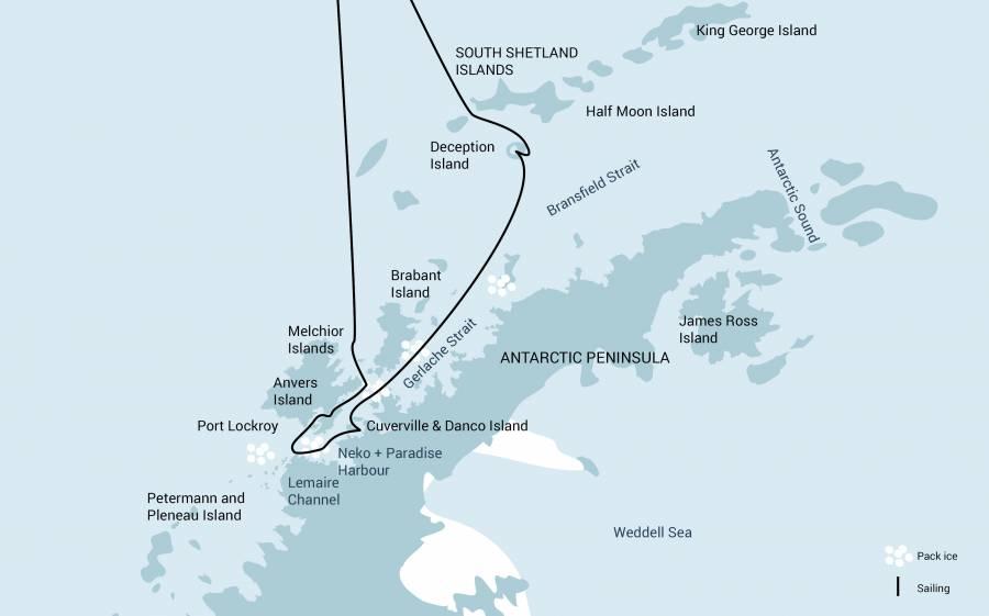 Antarctica with Deception Island