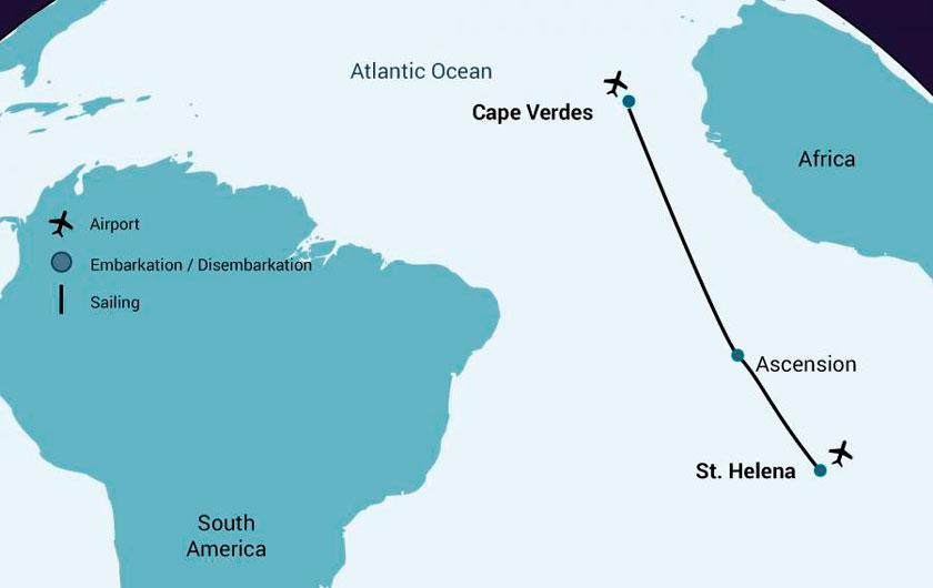 De Sainte Hélène au Cap Vert dans le M/V Janssonius
