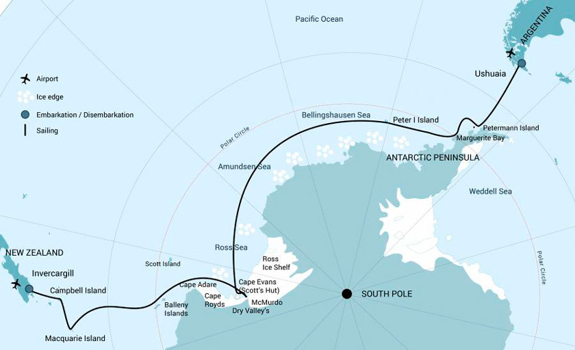 Semi circumnavigation en Antarctique