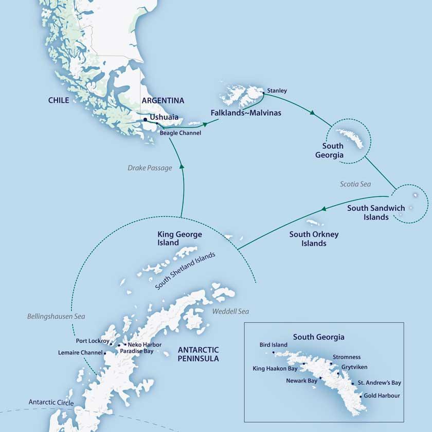 Odissea Antartica e Georgia del Sud e Isole Sandwich Meridionali sulla M/V Sylvia Earle