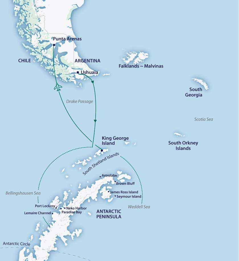 Vida selvagem na Antártica no M/V Sylvia Earle