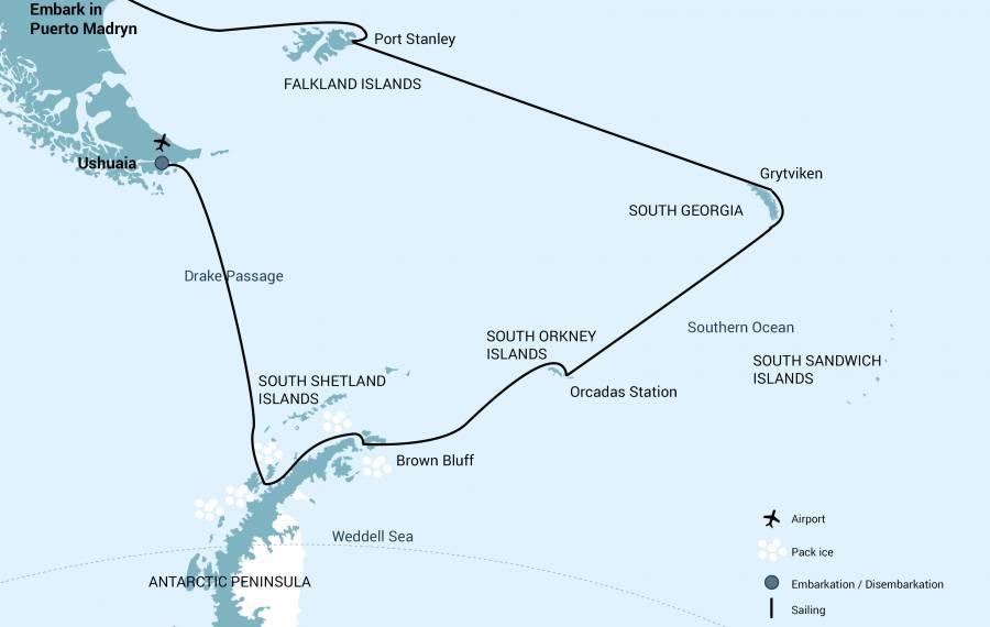 Antarctique et îles Sub-Antarctiques dans le M/V Plancius - M/V Hondius