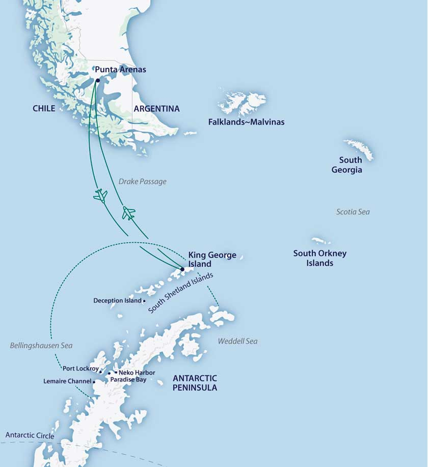 Cercle Polaire Antarctique dans le M/V Sylvia Earle