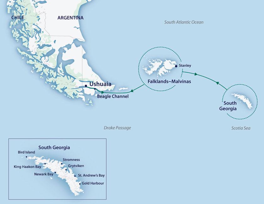 Ilha Geórgia do Sul no M/V Sylvia Earle